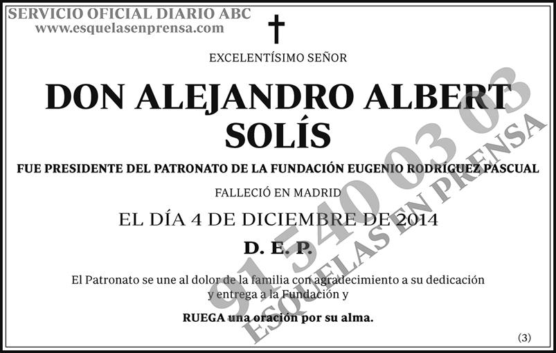 Alejandro Albert Solís